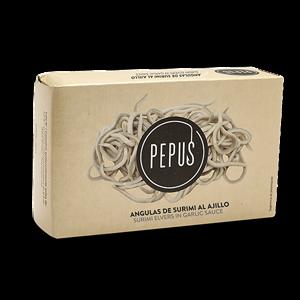 Surimi Elvers in Garlic Sauce RR-125 – Pepus