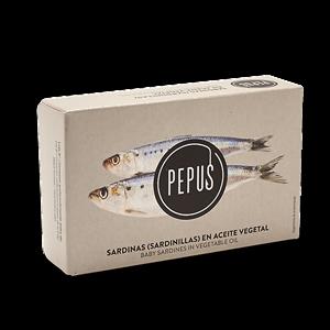 Baby Sardine in Vegetable Oil 8/12 OL-120 – Pepus