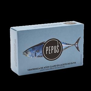 Light Tuna Belly in Olive Oil OL-120 – Pepus