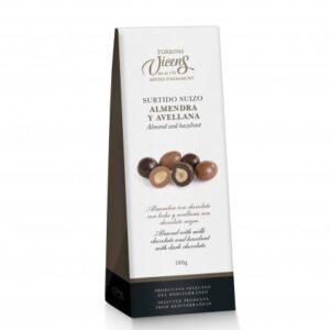 Almond and Hazelnut Chocolate 100g – Torrons Vicens