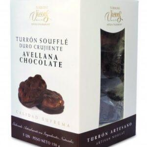 "Hazelnut Chocolate ""Soufflé"" Nougat 5x30gr – Torrons Vicens"