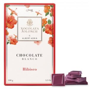 White Chocolate with Hibiscus Flower 100g – Torrons Vicens