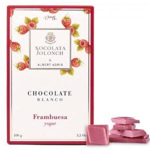 White Chocolate with Raspberry and Yogourt 100g – Torrons Vicens