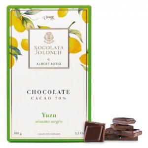 Dark Chocolate with 70% of Cocoa with Yuzu and Dark Sesame 100g – Torrons Vicens