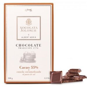 Chocolate with 55% of Coca and Carameized Cinnamon with Salt 100g – Torrons Vicens