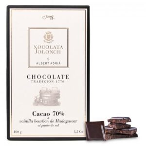 Xocolate with 70% of Cocoa with Vanilla and Bourbon of Madagascar 100g – Torrons Vicens