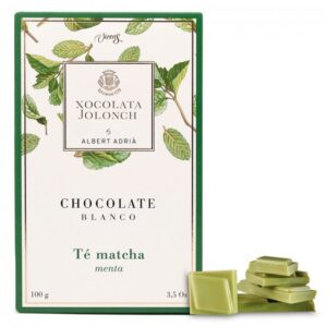 White Chocolate with Matcha Tea and Mint 100g – Torrons Vicens