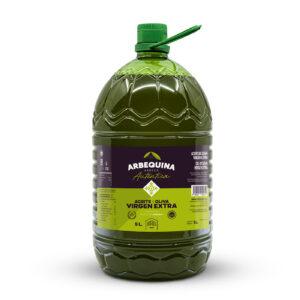 EXTRA VIRGIN OLIVE OIL ARBEQUINA NATURAL CARAFE 5L