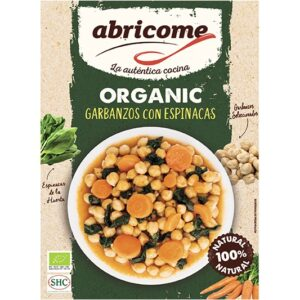 Organic chickpeas with spinach – Abricome